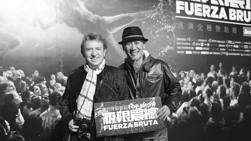 Andy summers at Fuerza Bruta